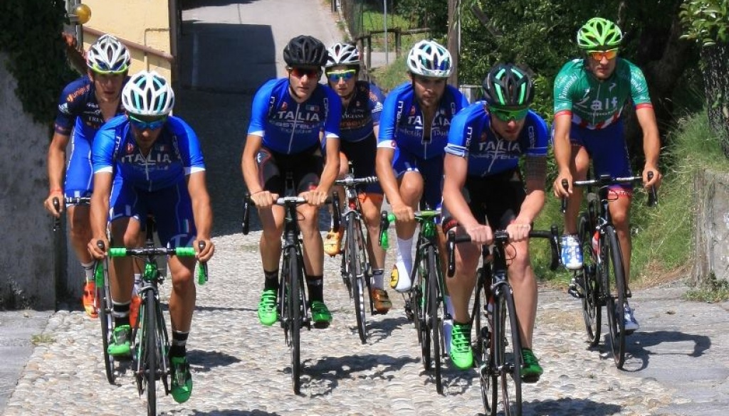 """Gli azzurri hanno pedalato sul percorso del """"Trofeo Almar – Coppa dei Laghi"""""""