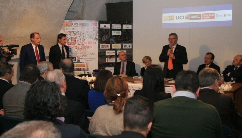 """Presentata ufficialmente a Voltorre di Gavirate l'edizione 2016 del """"Trofeo Alfredo Binda"""""""
