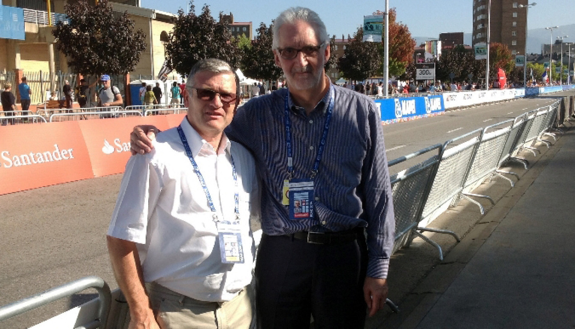 "U.C.I. president, Brian Cookson in Cittiglio for the ""Alfredo Binda Trophy"""