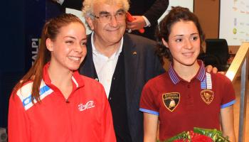 Incontro tra i Campioni e gli atleti SILCA a Tarzo (foto: F. Ossola)