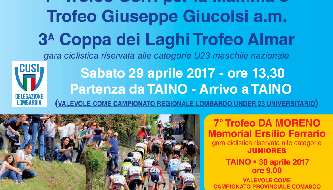 (Italiano) Taino (VA) aspetta i 500 corridori che si contenderanno tre importanti trofei