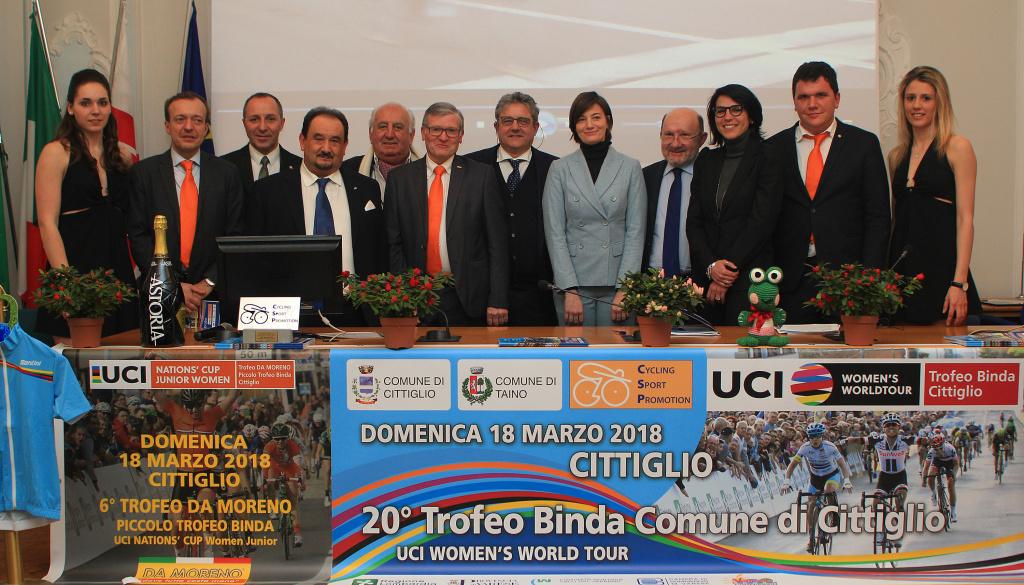 """(Italiano) Presentata a Varese l'edizione numero 20 del """"Trofeo Alfredo Binda U.C.I. WWT"""""""