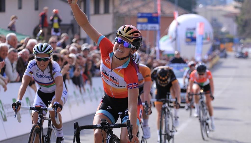 Alfredo Binda Trophy: English cyclist Elizabeth Armitstead triumphs in Cittiglio