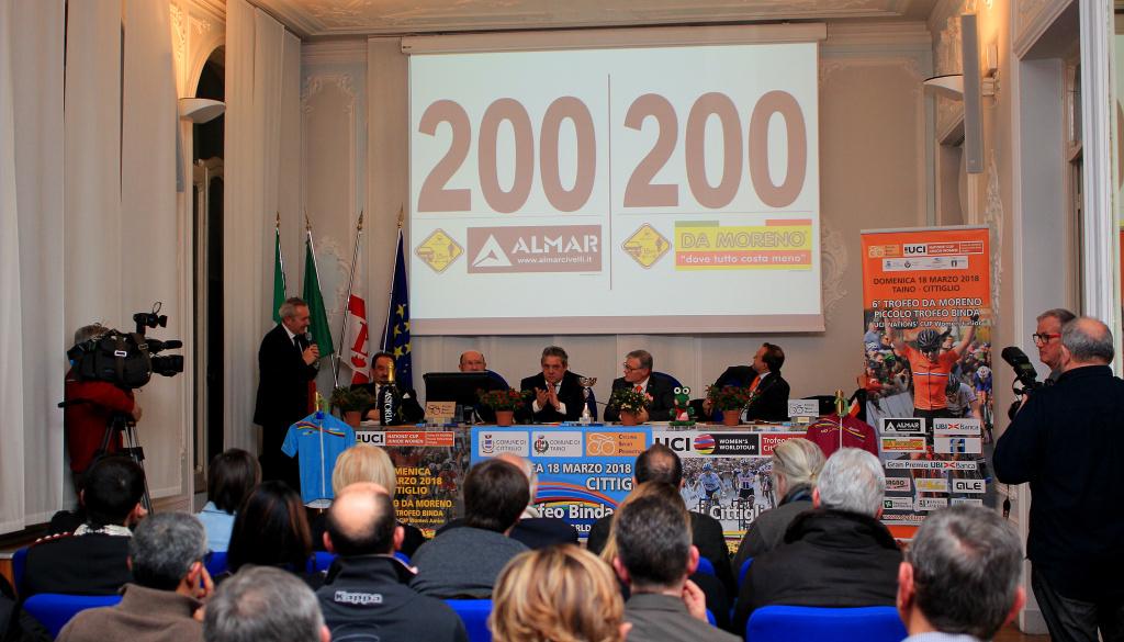 """(Italiano) Le 24 squadre al via del """"Trofeo Binda"""" e le 30 al via del """"Trofeo Da Moreno"""""""