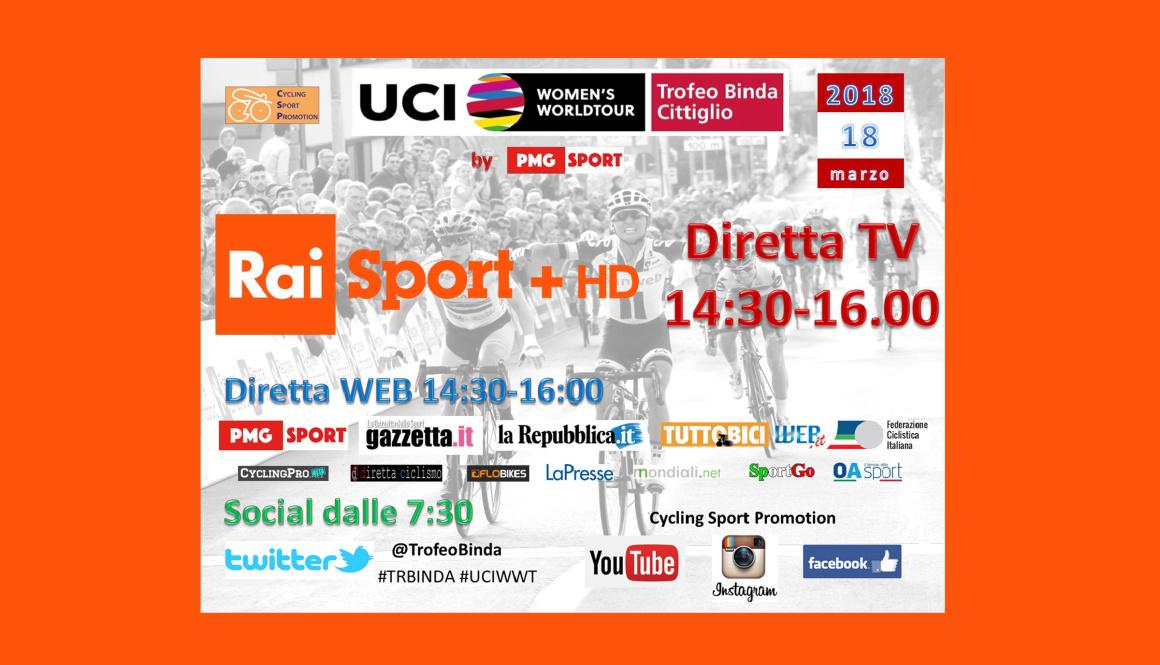 """(Italiano) Copertura mediatica senza precedenti per il """"Trofeo Alfredo Binda U.C.I. WWT"""""""