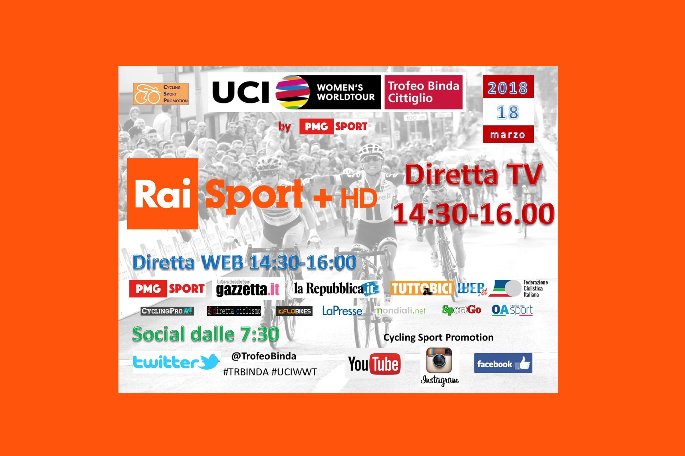 """<!--:it-->Copertura mediatica senza precedenti per il """"Trofeo Alfredo Binda U.C.I. WWT""""<!--:-->"""