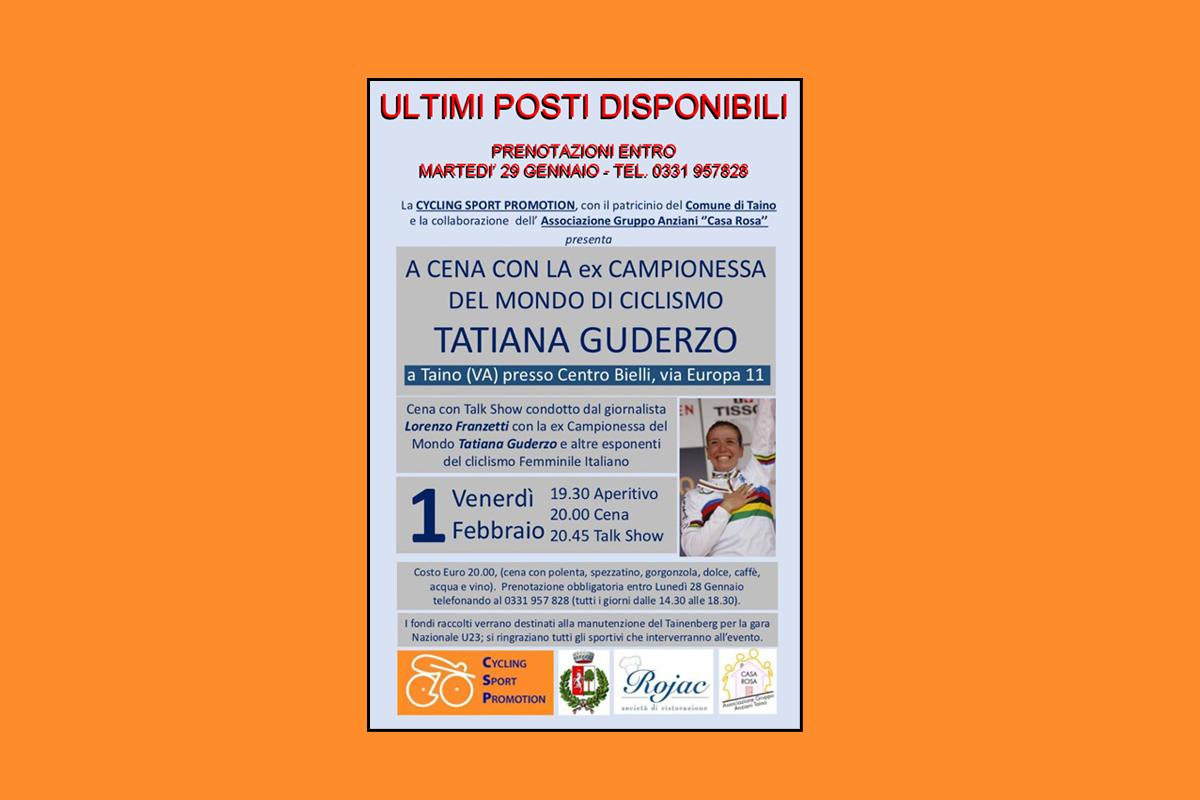 <!--:it-->Venerdi' 1 Febbraio a Taino (VA) stupenda serata con la fuoriclasse azzurra Tatiana Guderzo<!--:-->