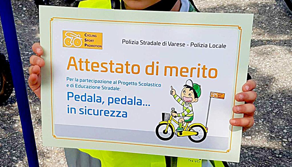 """(Italiano) Il 2019 della Cycling Sport Promotion inizia con il progetto scolastico """"Pedala, Pedala… in Sicurezza!"""""""