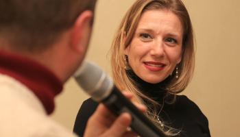 "(Italiano) ""Talk Show"" sul Ciclismo Femminile a Taino (foto: F. Ossola)"