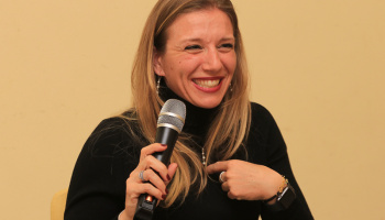 """Talk Show"" sul Ciclismo Femminile a Taino (foto: F. Ossola)"