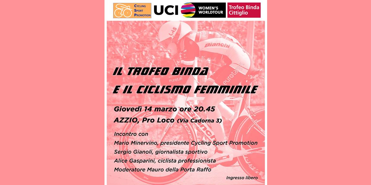 <!--:it-->Questa sera ad Azzio (VA) tavola rotonda sul Ciclismo Femminile con Alice Gasparini<!--:-->