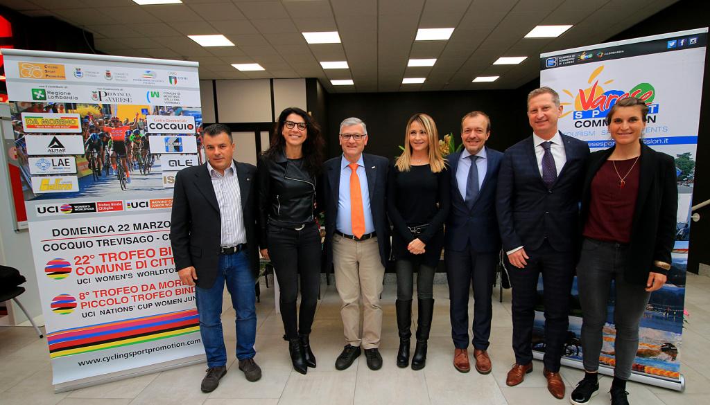 """Al Centro Commerciale di Cocquio Trevisago (VA) le nuove partenze del """"Trofeo Binda U.C.I. WWT"""" e del """"Trofeo Da Moreno"""""""